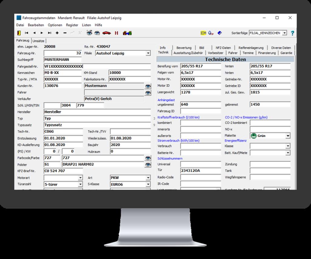 Dealer Management System. Alle Kunden- und Fahrzeugdaten im Blick